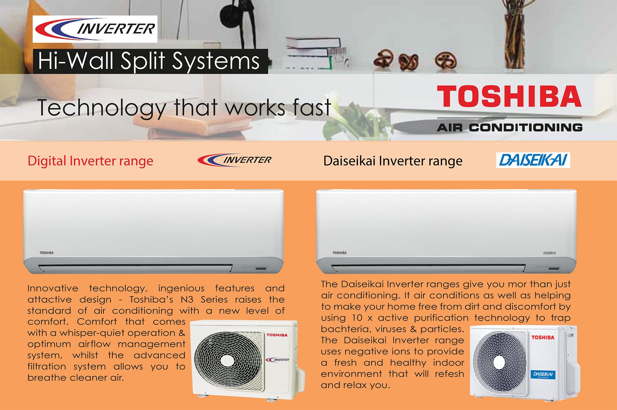 Toshiba High Wall Split Systems