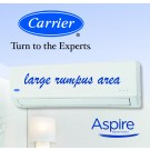 Carrier Aspire Inverter Hi-Wall Split Reverse Cycle Heat Pump - 6.30 kW Cooling / 7.40 kW Heating capacity (ideal for large rumpus area)
