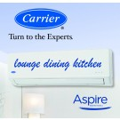 Carrier Aspire Inverter Hi-Wall Split Reverse Cycle Heat Pump - 5.93 kW Cooling / 6.50 kW Heating capacity (ideal for lounge dining kitchen areas)