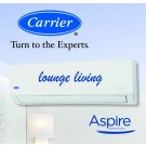 Carrier Aspire Inverter Hi-Wall Split Reverse Cycle Heat Pump - 4.89 kW Cooling / 5.50 kW Heating capacity (ideal for lounge living areas)