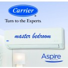 Carrier Aspire Inverter Hi-Wall Split Reverse Cycle Heat Pump - 3.60 kW Cooling / 3.80 kW Heating capacity (ideal for master bedrooms)