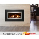 Rinnai New 950 Inbuilt Gas Log Flame Fire