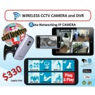 Auto-Networking IP Camera (Wireless CCTV Camera and DVR)