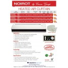 Noirot Heated Air Curtain 9.0kW Hi / 4.5kW Lo (Long Series)