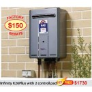 Rinnai Infinity K26Plus Hot Water System with 2 Control Pods